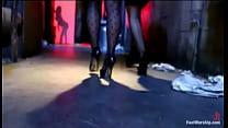 ASS FOOTING. LEsbians go wild with their hot feet and asses Vorschaubild