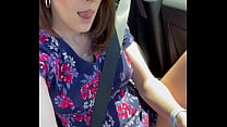 Spreading Legs & Showing Off Pussy While Driving