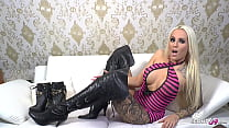 Leather Overknees Heels Dirty Talk Session with German Teen