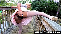 4k Boyfriend Pressured Girlfriend To Pussy Flash Outdoors Lifting Leg Up, Young Innocent Black Babe Msnovember Pull Panties To Side In Public Ass Upskirt Exhibition At Mini Golf  Sheisnovember Best Porn