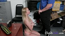 Blonde Hot Teen Gets Fucked By Old Cop For Stealing-Dixie Lynn