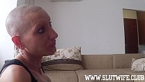 9123 Submissive Bald Headed Slave Gets Slaps And A Sloppy Facefuck Deepthroat While Getting Fucked In Her Shaved Pussy preview