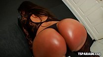 Bootylicious Tgirl Karen Rodrigues Does It Solo