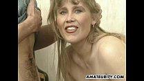 Busty amateur girlfriend sucks and fucks with facial thumbnail
