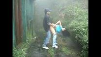 www.indiangirls.tk Indian girl sucking and fucking outdoors in rain preview image