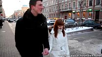 Casual Teen Sex - Warm sex Rosanna on a cold winter day