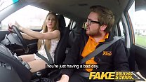 Fake Driving School Carmel Anderson ends lesson with an orgasmic climax Image