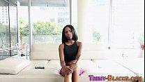 Ebony Teen Shows Pussy