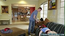 Sucking teen stepsister