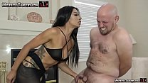 Mistress Tangent brutal ballbust and foot domin...