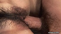 Her hairy cunt getting pumped with a hard cock