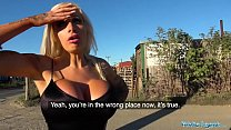 Public Agent Teasing dirty talking busty blonde begs for sperm thumbnail