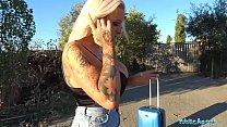 Public Agent Teasing dirty talking busty blonde begs for sperm