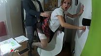 Naughty Schoolgirl Rides Her Teacher With Mothe...