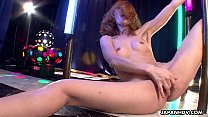Asian stripper getting wild on the pole as she ...