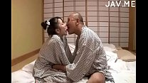 Image: Delicious Japanese girl with natural tits surprises old man -