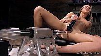 Blonde has orgasms on fucking machine pornhub video