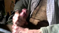 cumshot of my thick cock