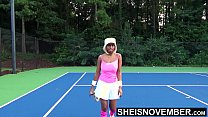 11275 Sexy Black Babe Extreme Choked Fucked Rough Missionary After Lost Tennis Game Bet , Tiny Msnovember Big Titties Spill Out Of Shirt On HD Sheisnovember preview