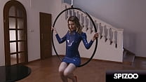 Amazing Aerial Hooping Fuck Fun With Stunning Blonde