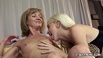 Alexa Wild and Katherin Old Young Lesbian Love preview image