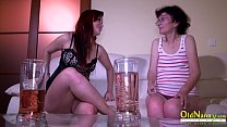 OldNannY Old Mature and Teen Lesbian Masturbation
