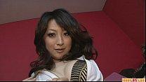 Brunette Asian girl Asuka Mimi fondled and fucked hard