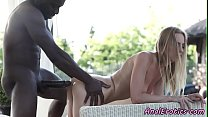 Euro beauty assfucked by black prick