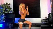Blonde teasing assets