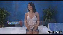 This sexy eighteen year old hot girl gets fucked hard doggystyle by her massage therapist