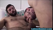 LatinoHunter.com- Tatted Latin thug fucked by a handsome latin stud