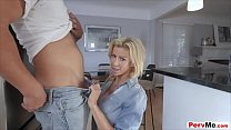 Blowjob can makes her a cool and trendy stepmother