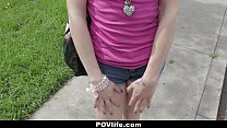 POVLife- Brunette Chick Picked Up and Fucked