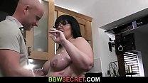 Cheating husband doggystyles BBW thumbnail