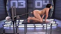Hot ass Latina beauty fucks machine