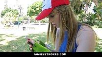 FamilyStrokes- Step-Sis Blows bro for Pokemon thumbnail