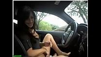 Sexy girl masturbate and flash in her car on cam صورة