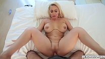 Stepson gets a hot present from stepmom her milf pussy for him to slam!
