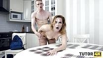TUTOR4K. Guy on sexy tutor by drilling her cunn...