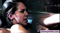 Sara Luvv finds lawyer Dana Dearmond and eats her pussy