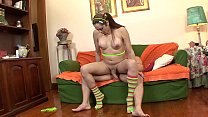 Transsexual teenager seduces a horny man