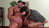 Maskurbate - Muscle Worshipper Sucks Bodybuilder's Thick Cock