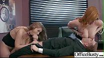 (Lauren Phillips & Lena Paul) Big Round Boobs Girl In Hard Sex In Office clip-17