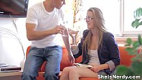 She Is Nerdy - Sweetie in glasses Alexis Crystal loves sex teen porn Vorschaubild