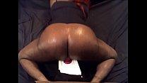 Bbw tranny riding dildo on webcam