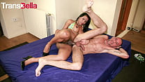 TRANS BELLA - Emily Goud and Raul Montana - Sexy Ass Tranny Fucks Hard With Daddy
