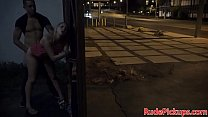 Real stranded babe hardfucked by stranger