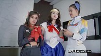 Banging three cosplay chicks at once Preview
