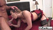 Sexy Asian hottie Mia Lelani gets some big Ital...