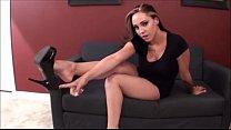 Sasha Foxx shoe dangling JOI's Thumb